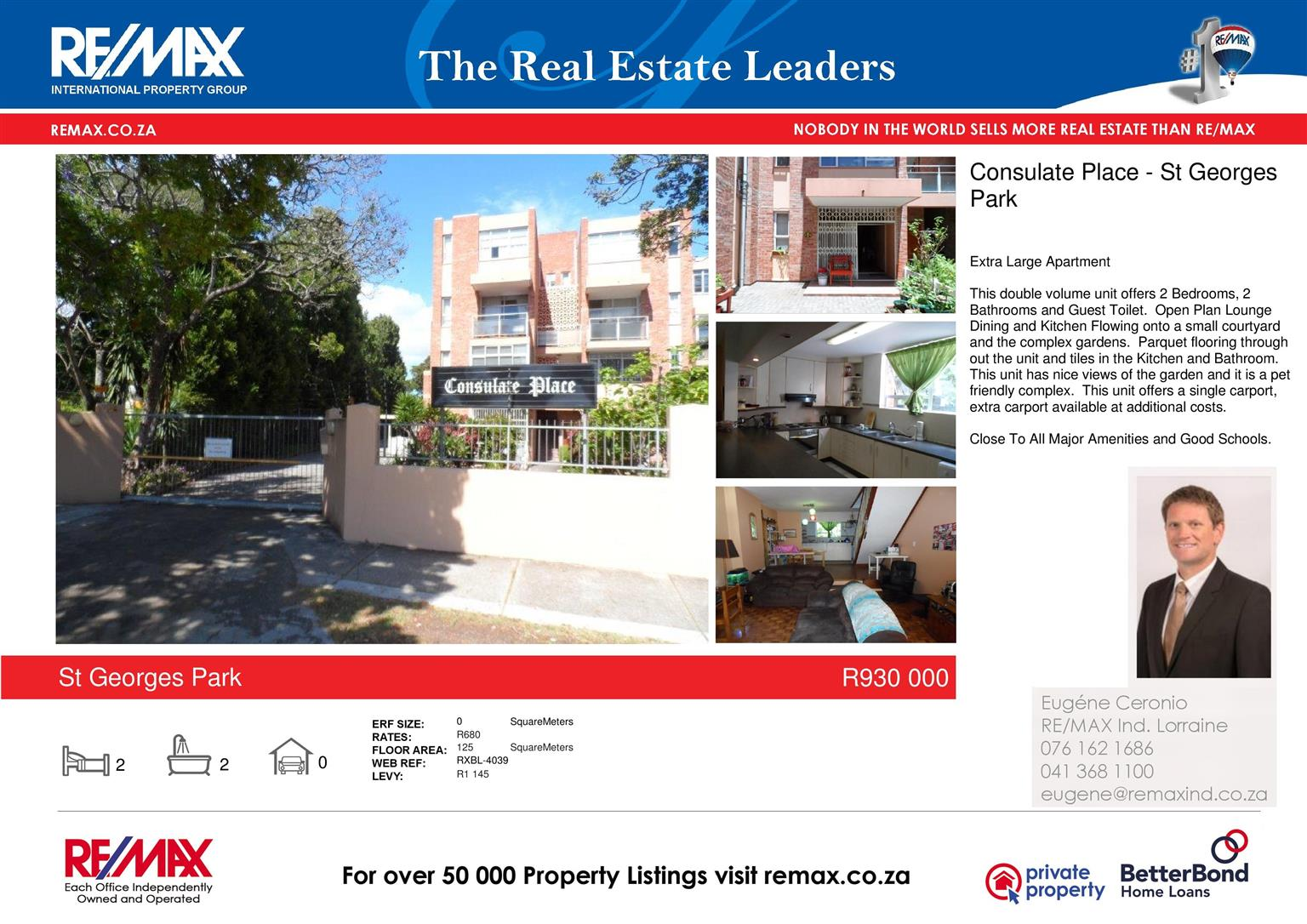 Sought After St Georges Park 2 Bedroomed Apartment/Duplex