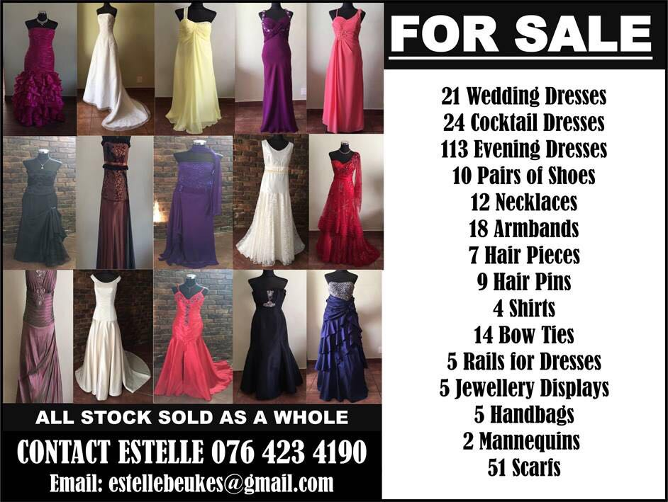 Bridal and Evening wear for sale.