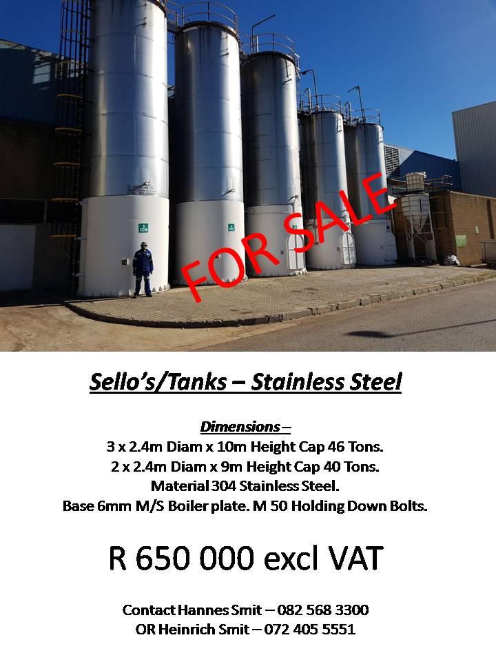 Silos/Tanks - Stainless Steel