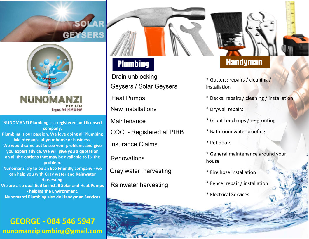 Nunomanzi Plumbing, Building and Maintenance Services