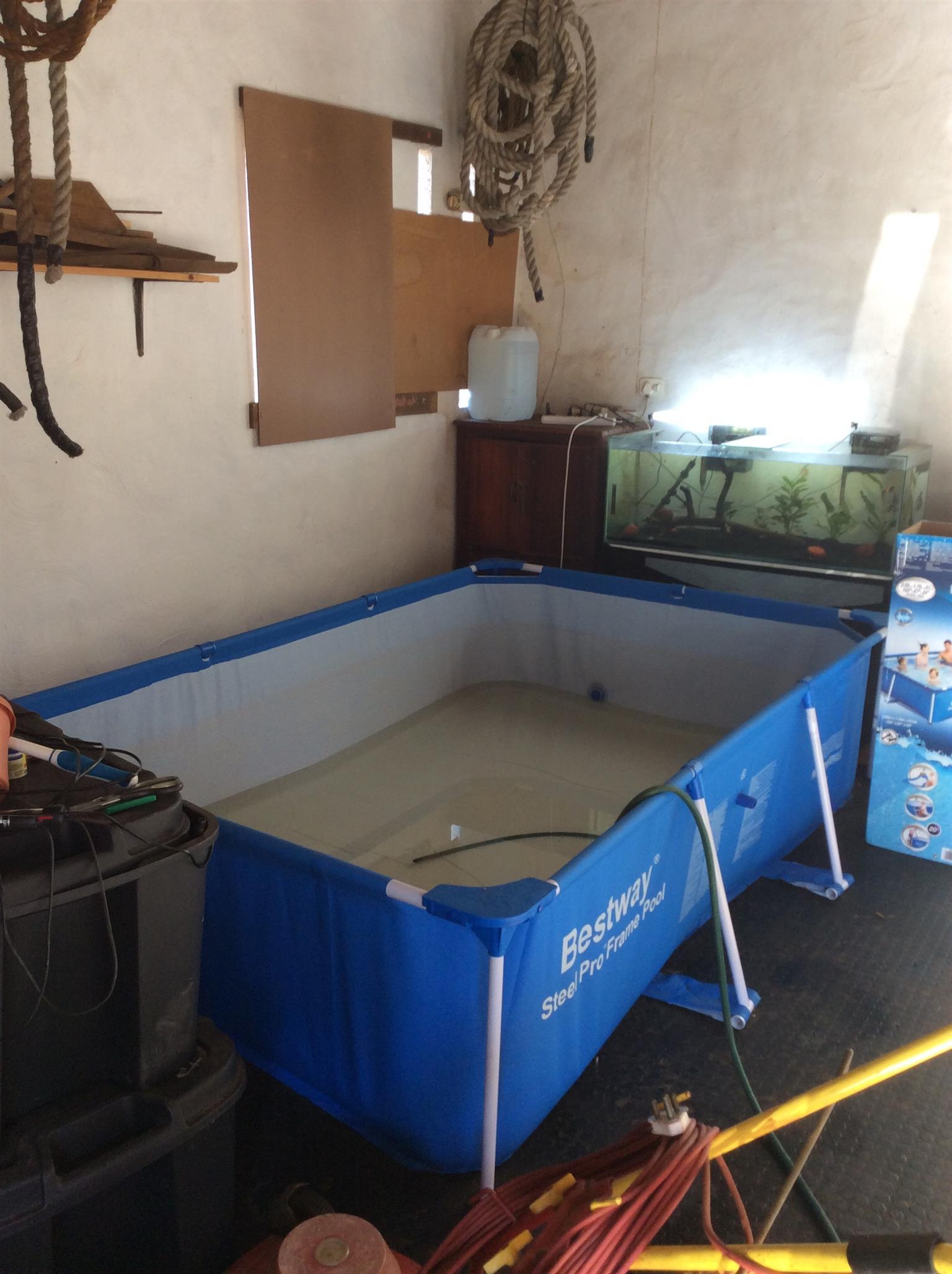 Portable pool steel frame bestway junk mail for Bestway portable pool