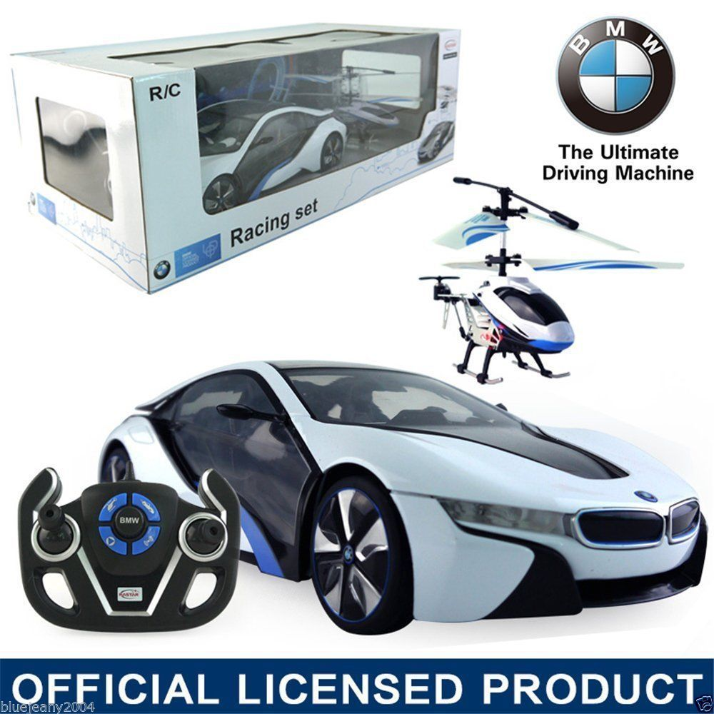 BMW i8 CAR WITH HELICOPTER COMBO -- REMOTE CONTROL CAR -- REMOTE CONTROL HELICOPTER FOR SALE