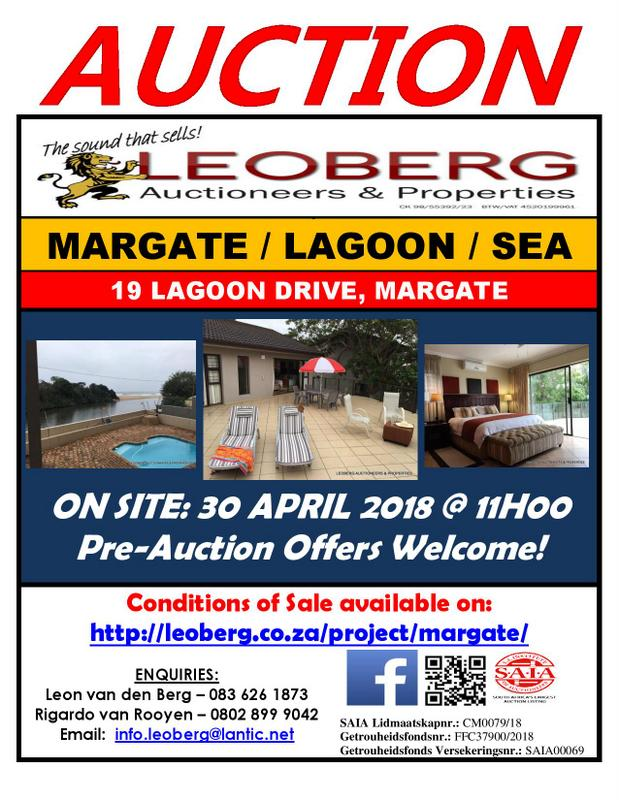 5 Bedroom Beach Condo - Auction 30 April 2018 at 11h00 - Margate