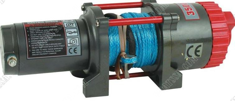 RUNVA T3500S-SR 12V ELECTRIC SYNTHETIC ROPE WINCH