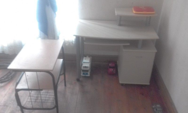 desk plus shelving unit for give away price 550