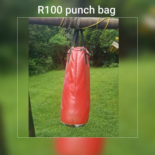 Red punching bag for sale