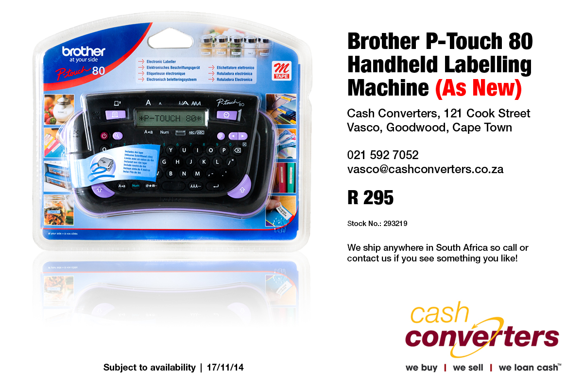 Brother P-Touch 80 Handheld Labelling Machine (As New)