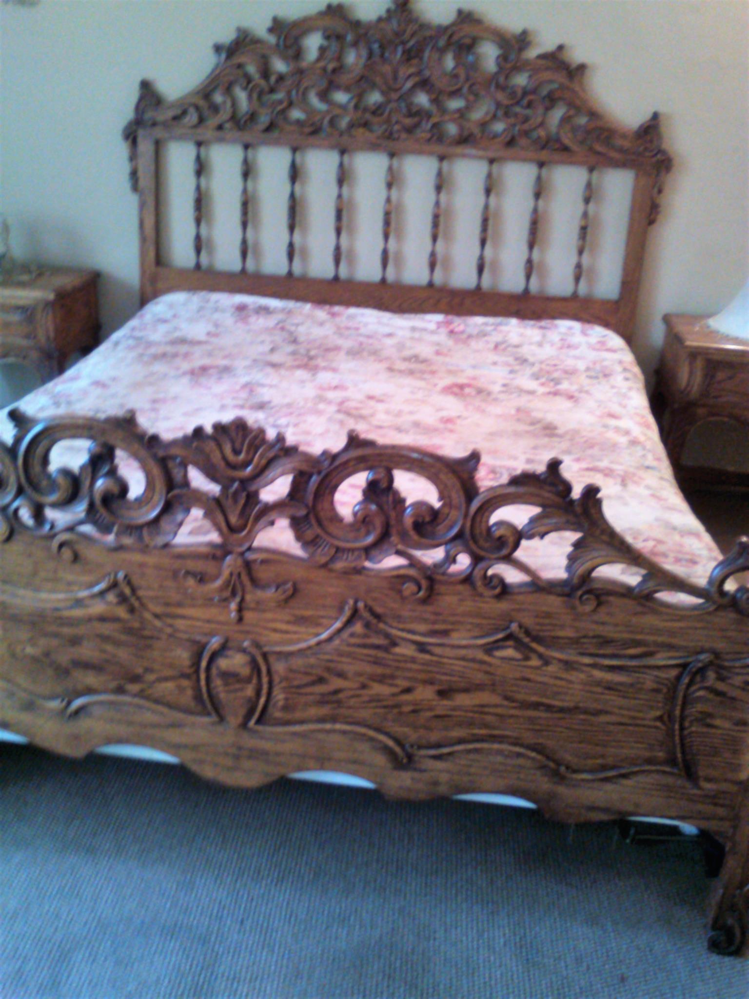 English Oak Double Bed Suite