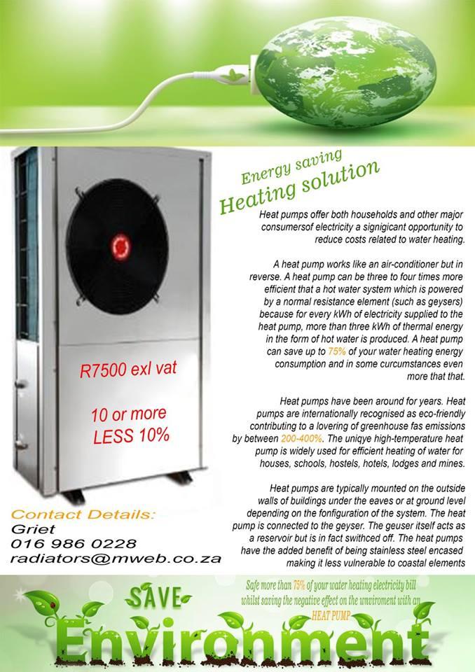 Heatpumps for sale.