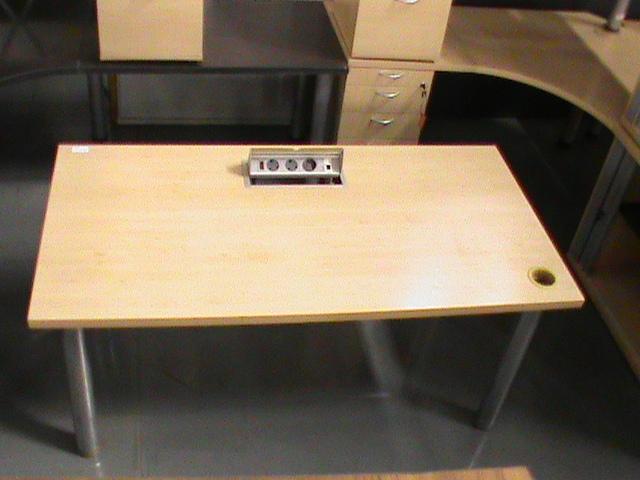 Maple straight desk