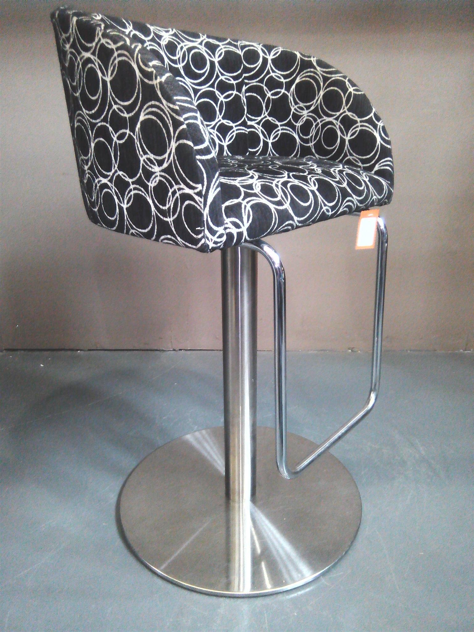 Crome bar chair