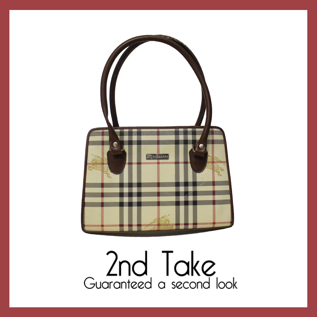 Shop affordable designer accessories like this Burberry handbag - exclusive to 2nd Take!