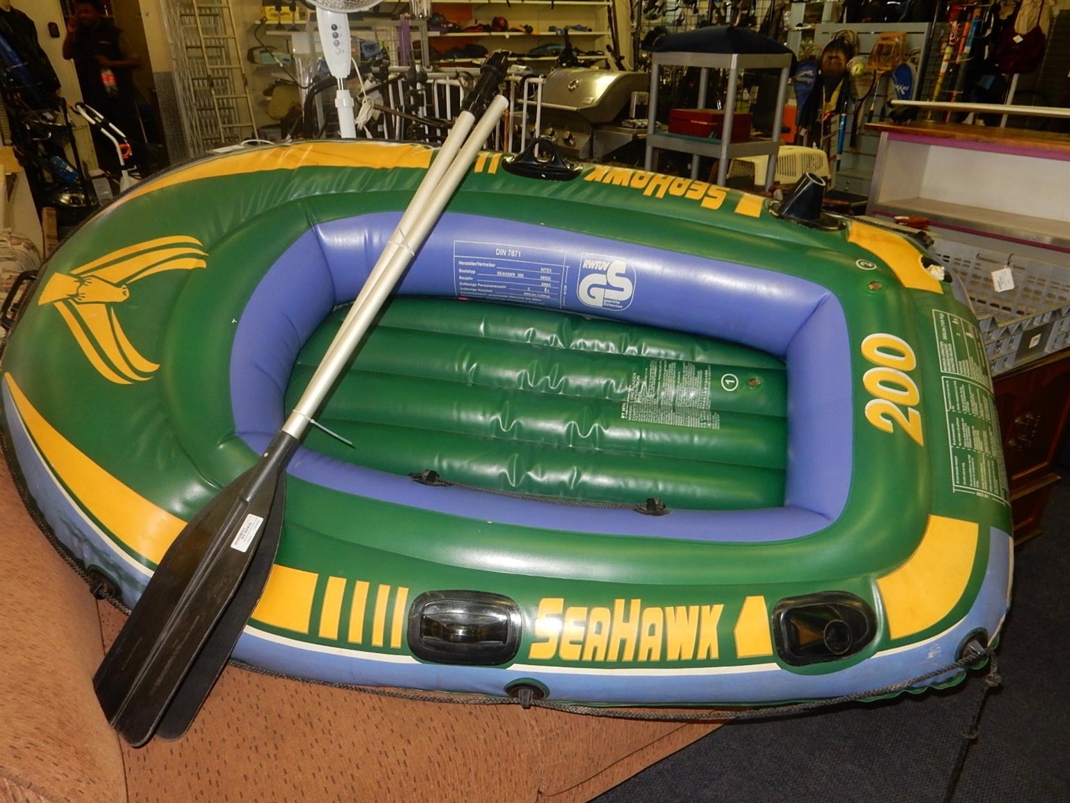 Sea Hawk 200 Inflatable Boat with 2 Oars