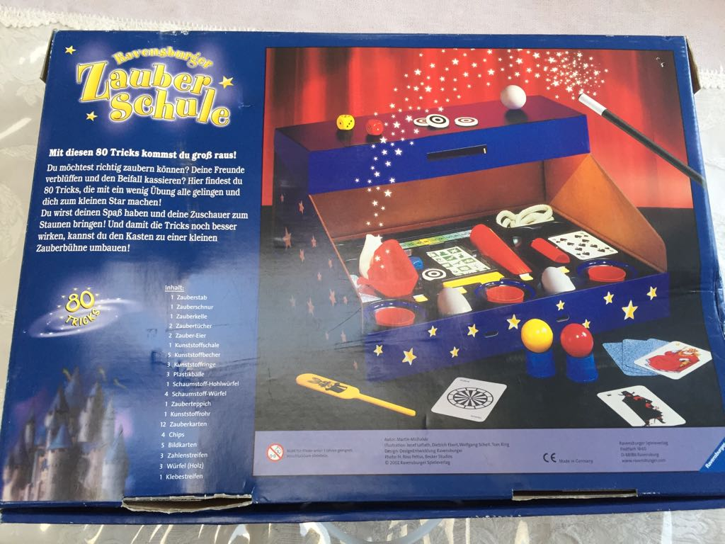 Abra Cadabra! Ravensburger Zauberschule Kiddies Magic Set in German