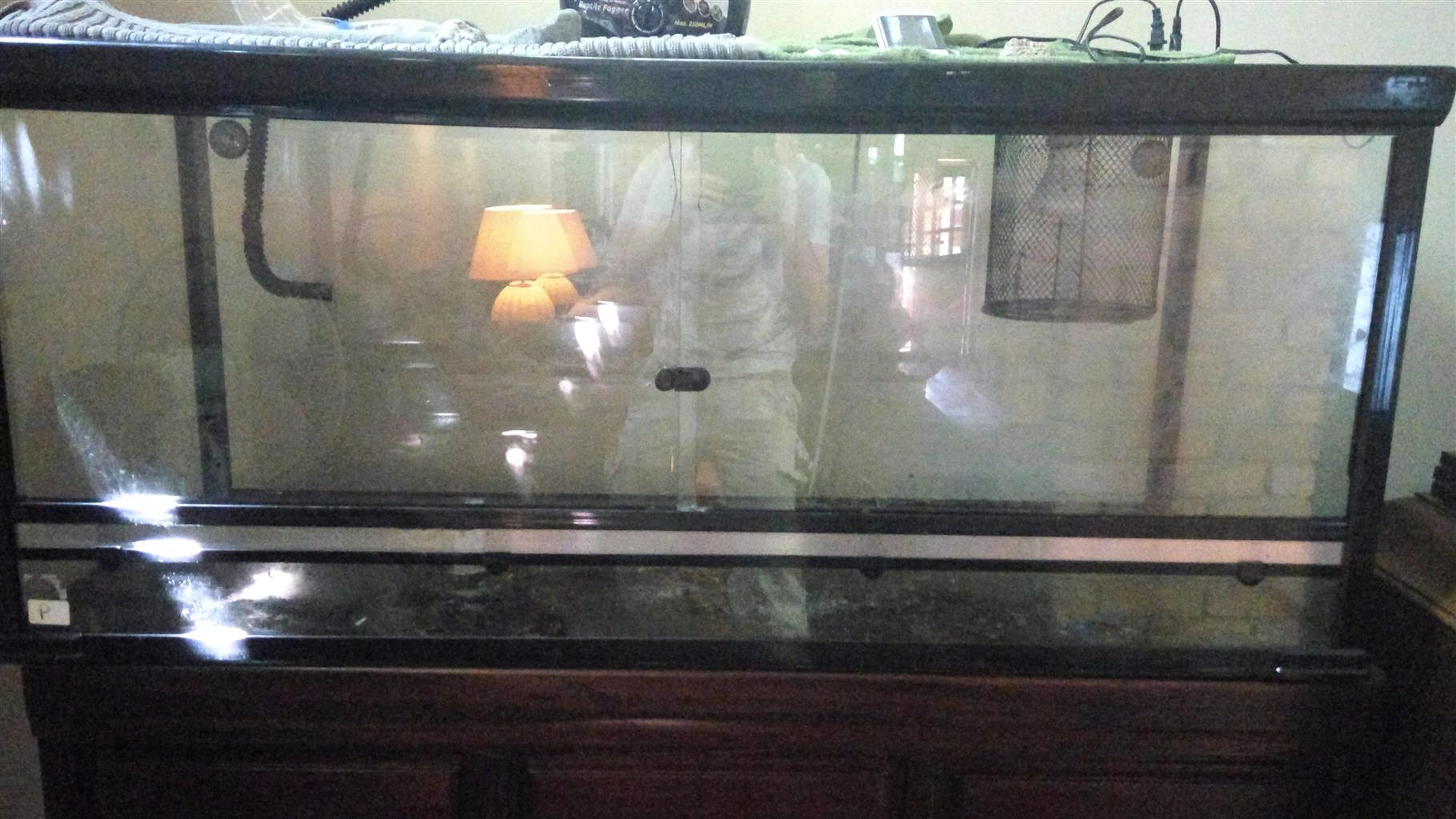Large snake/reptile cage for sale + extras