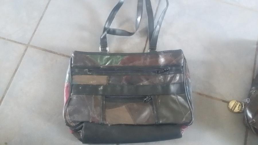 Vintage patchwork leather handbag