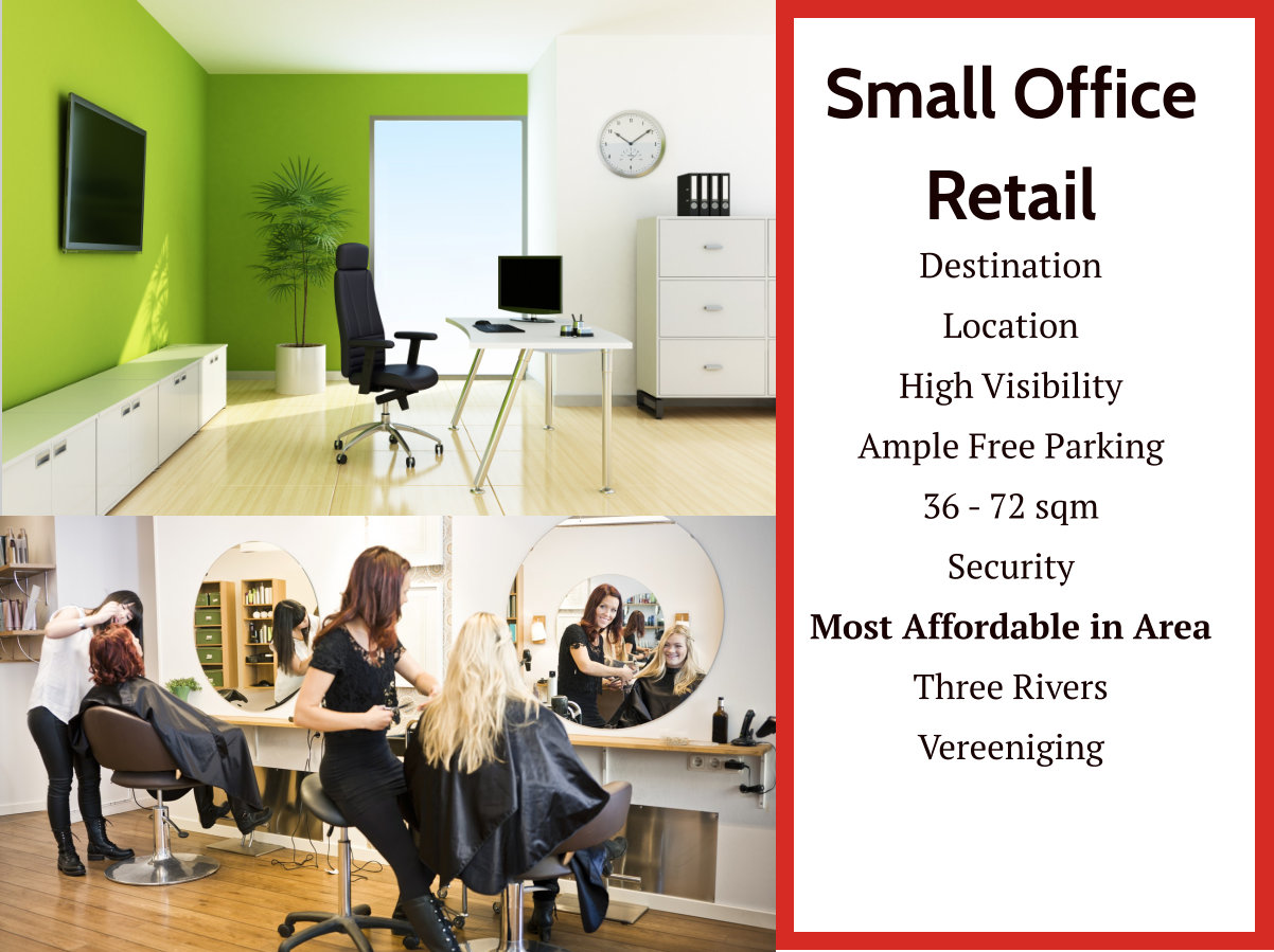 Low Cost Retail/Office Space in Three Rivers : Vereeniging
