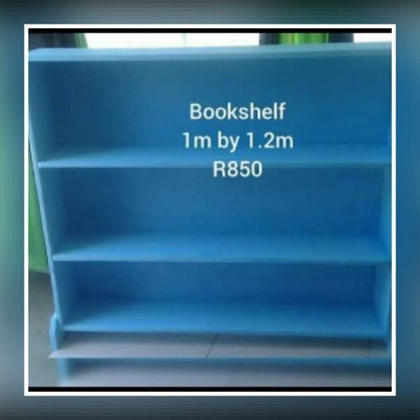 Blue bookshelf for sale