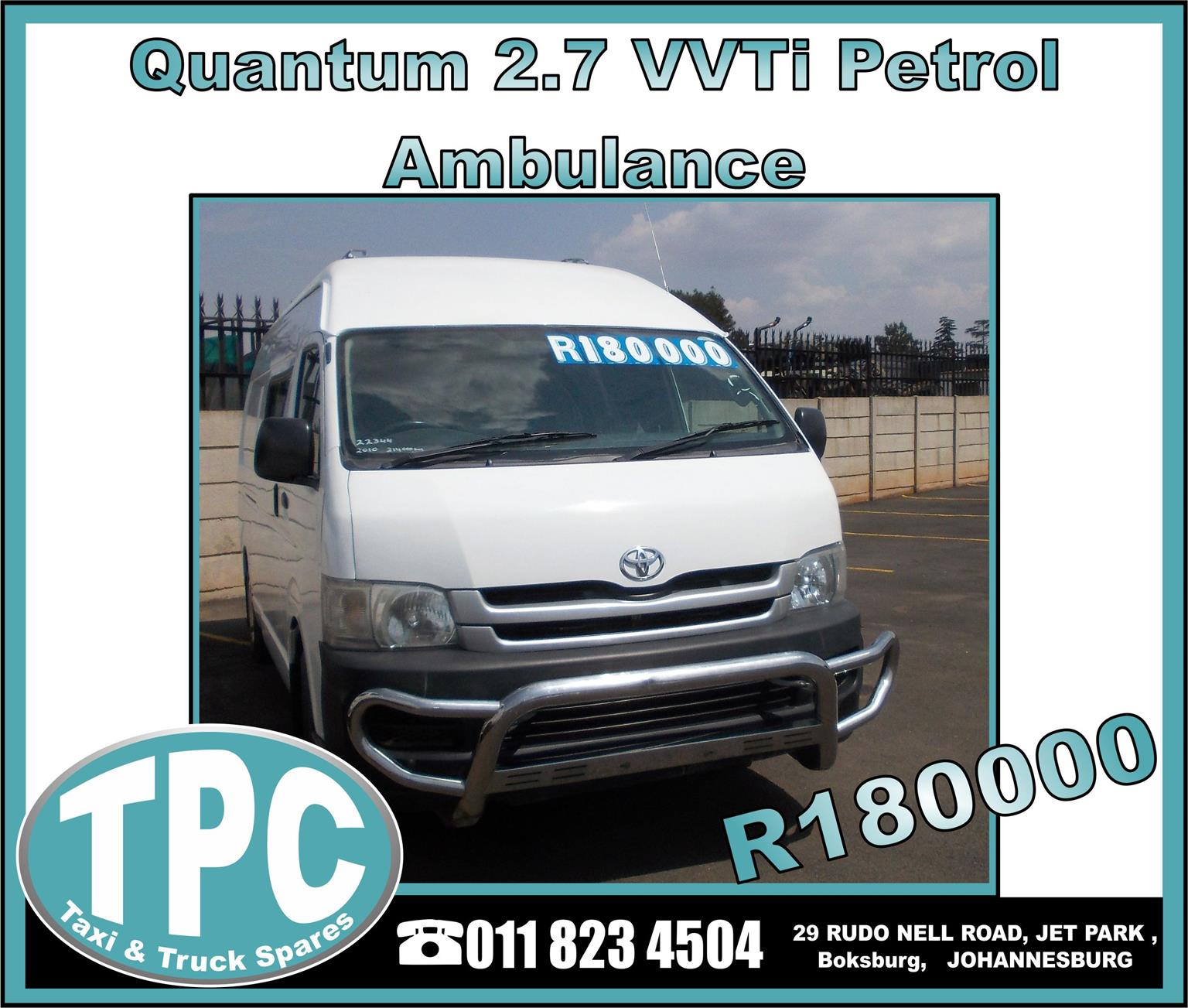 Quantum 2.7 VVTi Petrol Engine - GREAT CONDITION