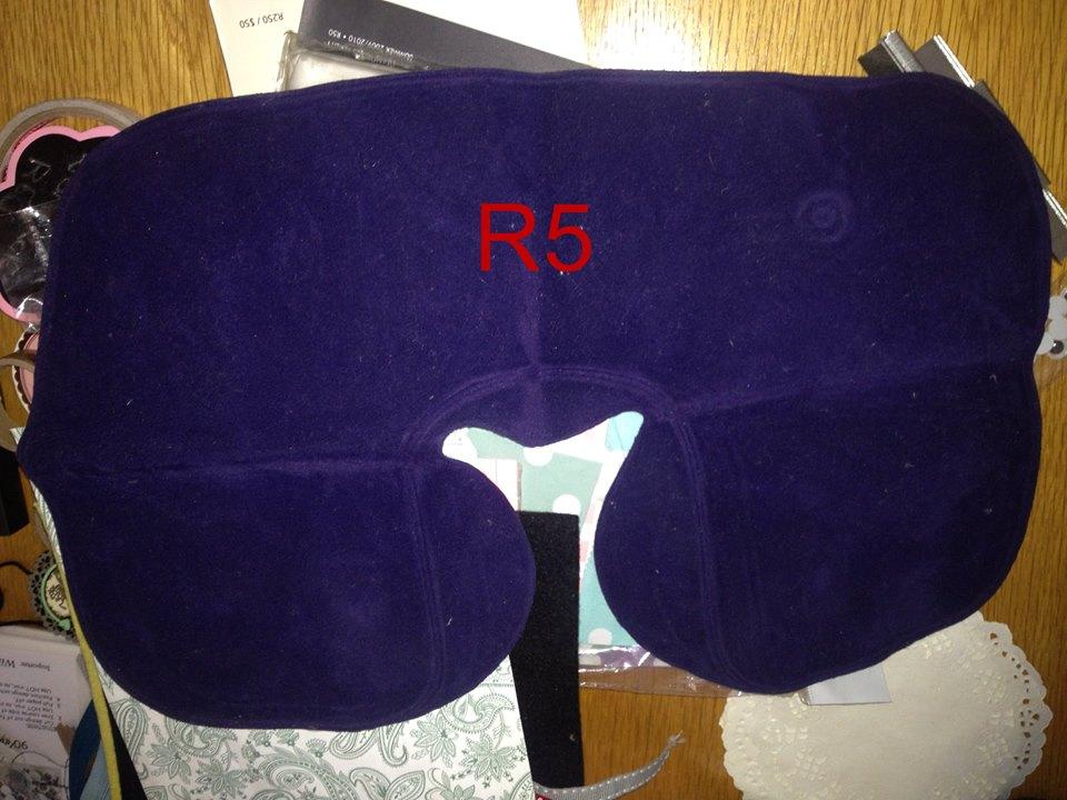 Purple neck cushion