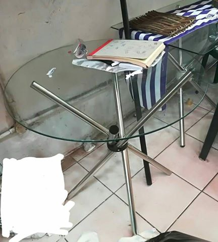 Glass table for sale.