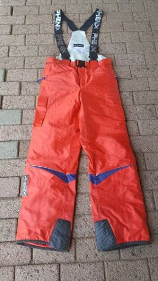 Orange construction suit pants