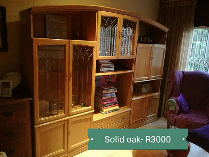 Solid oak wallunit