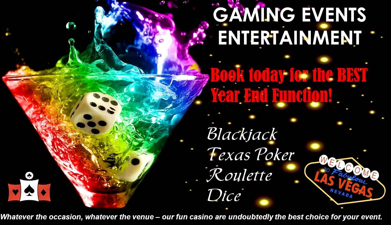 Hire Casino Themed Entertainment for your next function