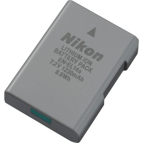 Nikon EN-EL14A Rechargeable Li-ion Battery - works for most Nikon DSLR's - see list below