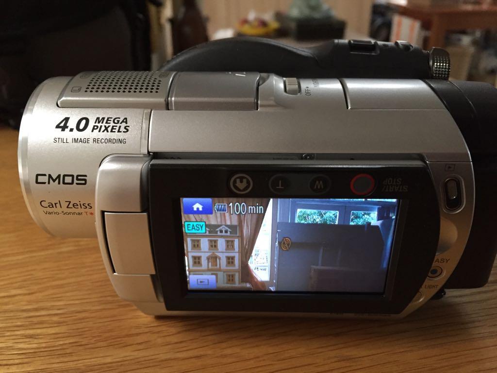 Sony DCR-DVD808e DVD Handycam with 4mp Digital camera capability