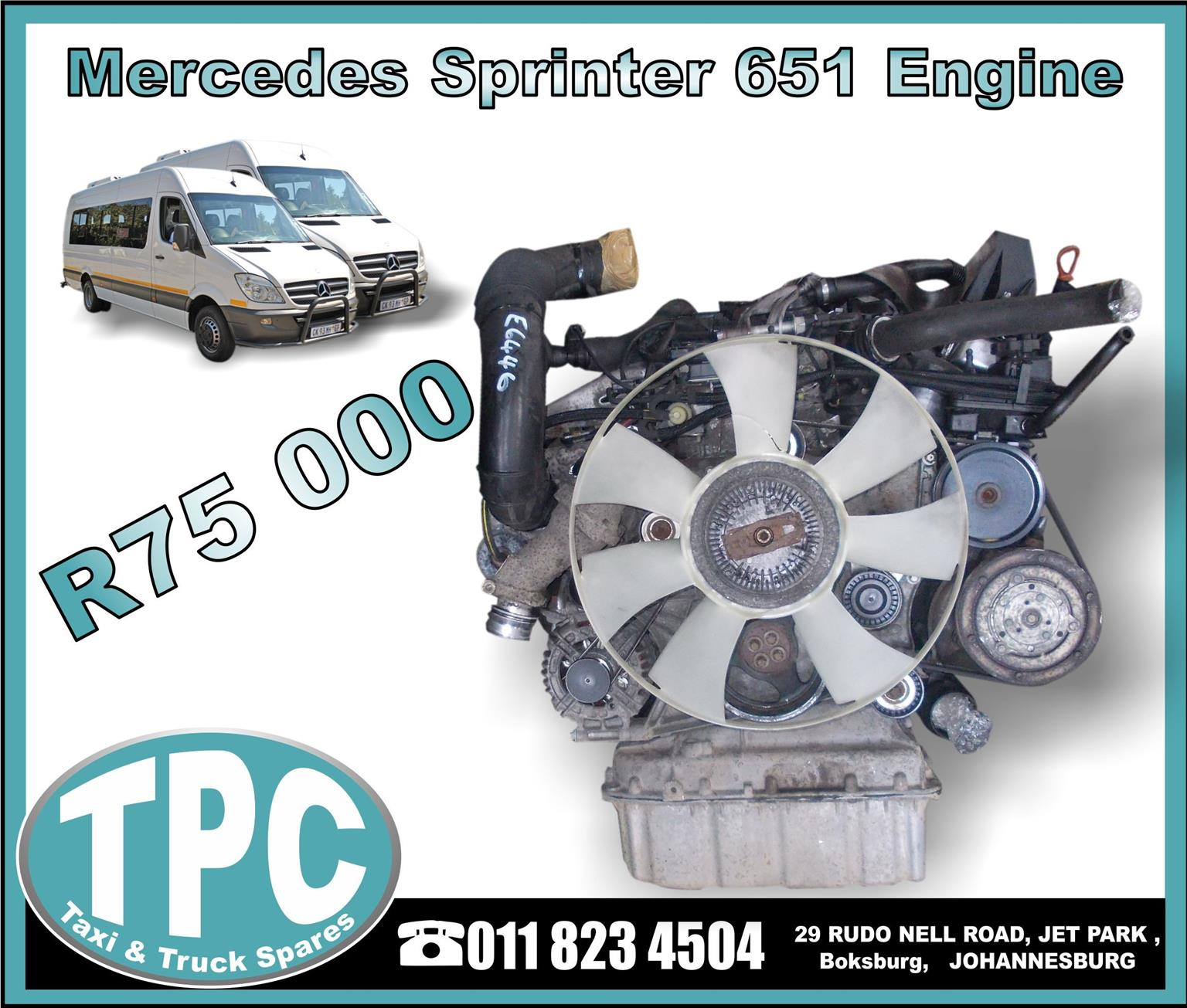 Mercedes Sprinter 651 Engine - USED - New And Used Replacement Parts.