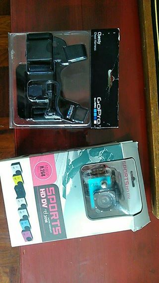 Action Camera and Gopro strap.