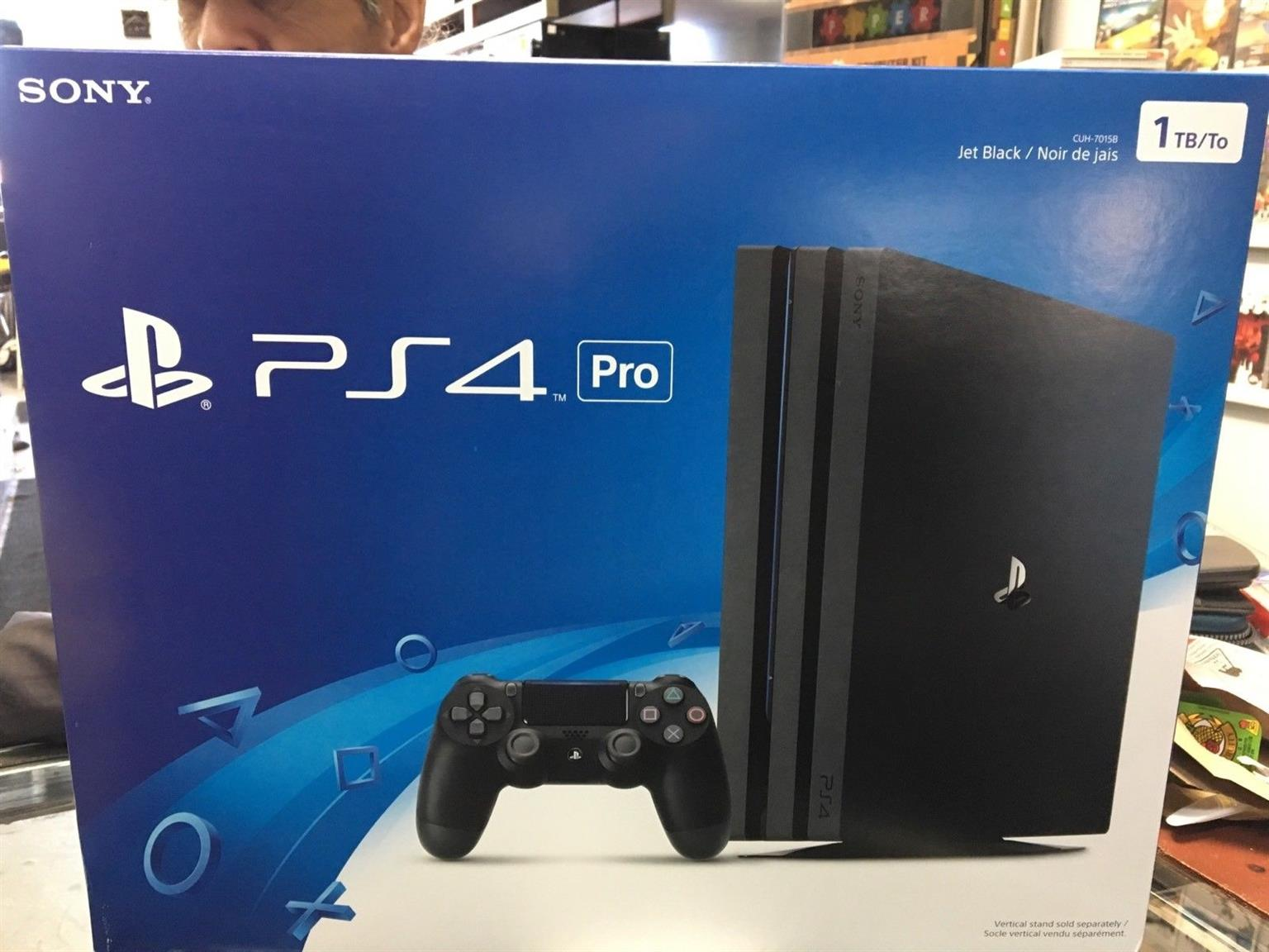 PS4 Pro 1TB 4K brand new sealed (Contact me only if you are happy about the price and willing to pay cash. Thank you.) My price is not negotiable R5700 Im situated in mayfair Johannesburg  Games are sold Separately  Fifa 2018 R750 Pro evolution soccer 2018