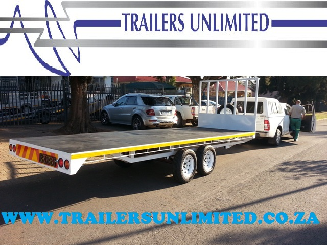 TRAILERS UNLIMITED. 6000 X 2500 FLATBED FURNITURE TRAILER.