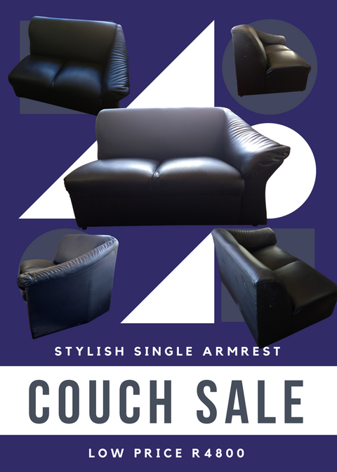 Leather Single Armrest Couch
