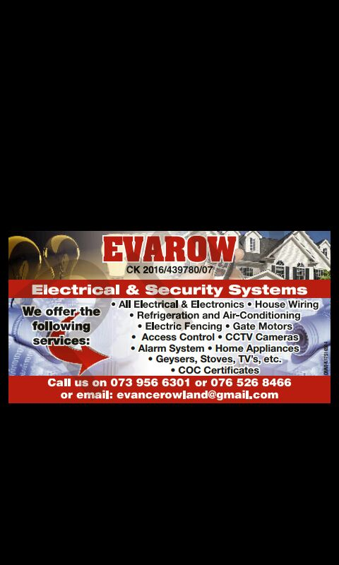 EVAROW ELECTRICAL AND SECURITY SYSTEM,