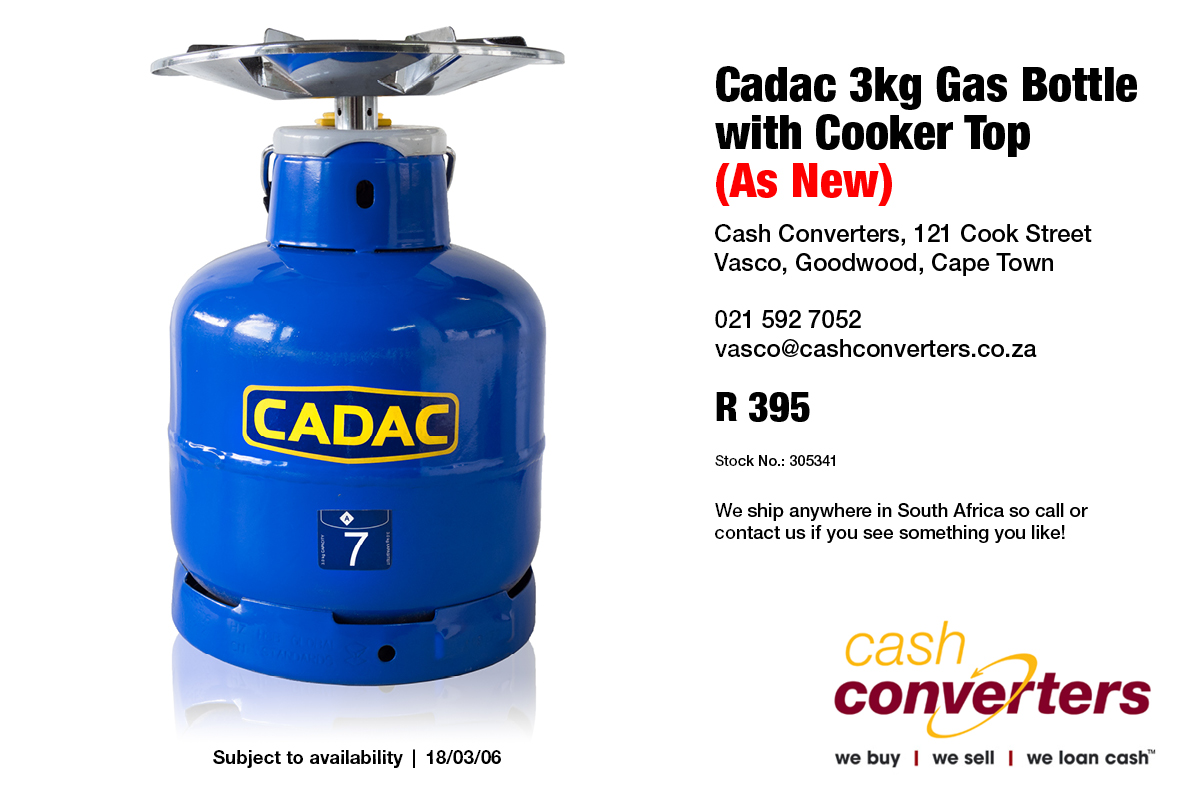 cadac 3kg gas bottle with cooker top as new junk mail. Black Bedroom Furniture Sets. Home Design Ideas