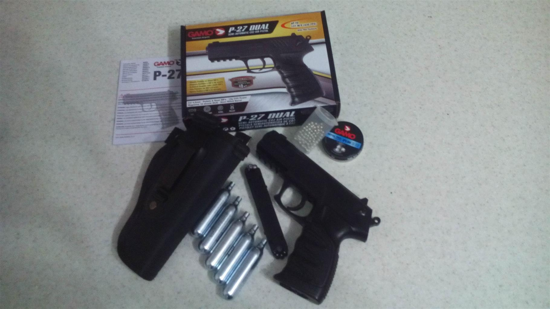 Gamo P27 Dual Semi Automatic CO2 Air Pistol