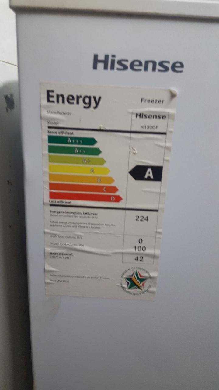 224 liter Hisense chest freezer for sale