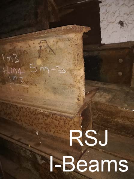 Structural steel (RSJ & Rails) for Sale (For Construction)