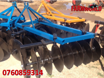 S2781 Blue Unknown Make 16 Disc Offset Harrow / 16 Skottel Dis Pre-Owned Implement