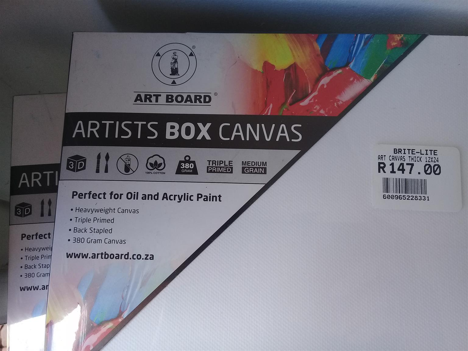 Artist canvases x 5 - New