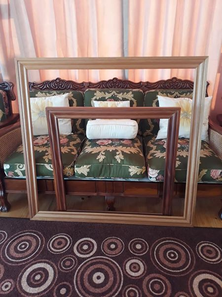 Mahogany picture/ mirror frames