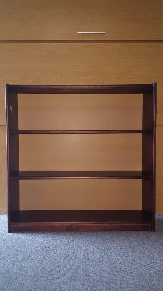 Stained Pine Bookshelf