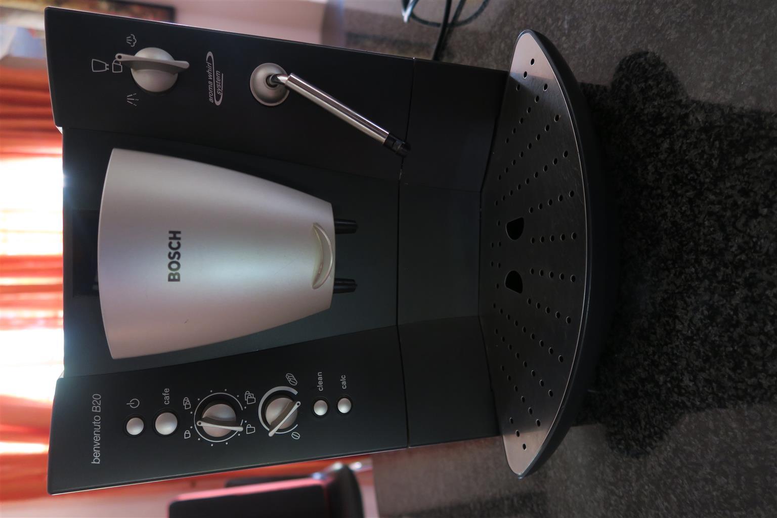 Bosch Benvenuto B20 espresso machine Part Number: TCA6001UC