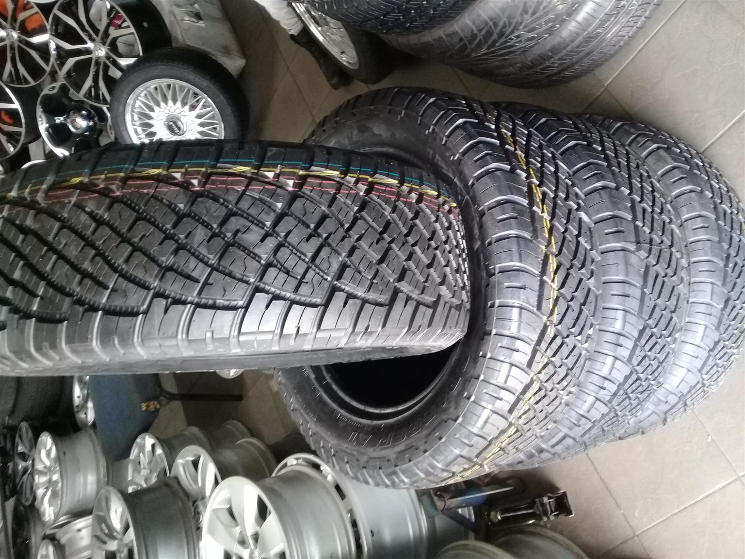 255/60/18 general grabber A/T 4x new tyres r7799 for your bakkie or suv,
