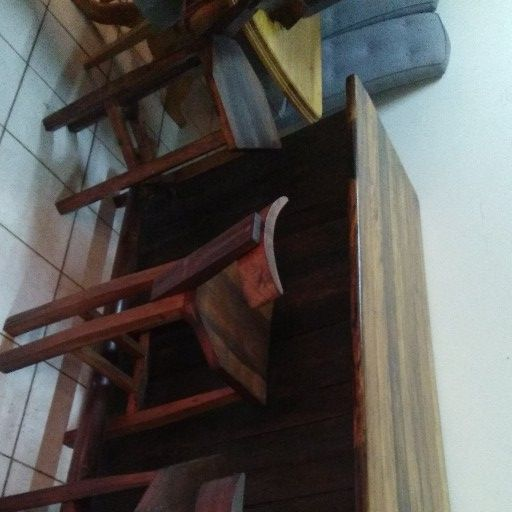 Sleeper Wood Bar and 3 Sleeper wood Bar Stools