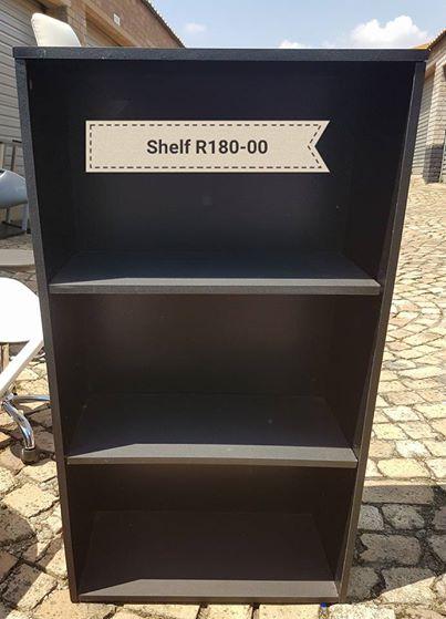 Dark wooden 2 tier shelf