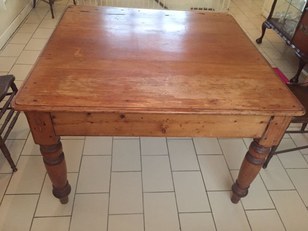 Yellow Wood square table