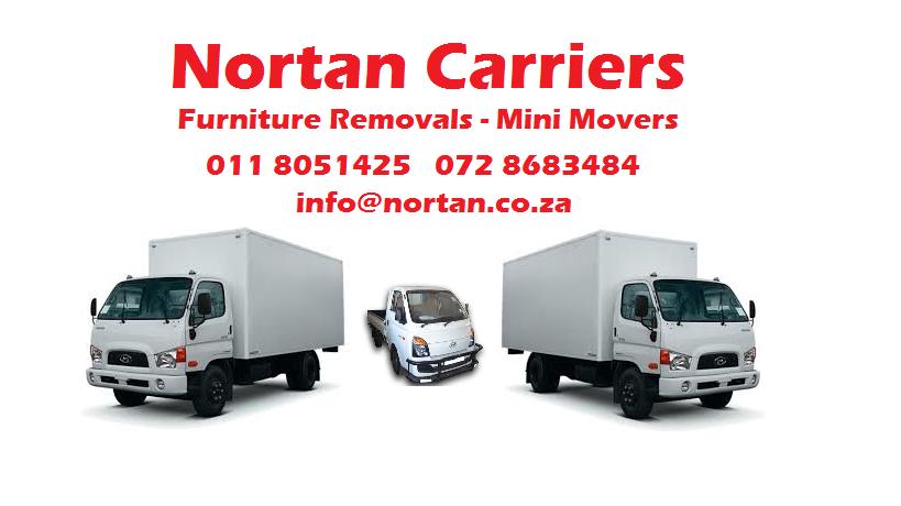 Nortan Carriers furniture removals in Pretoria
